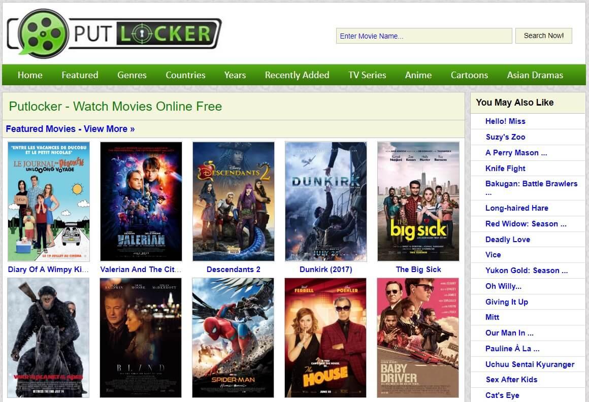 Top Putlocker alternatives for Streaming Movies